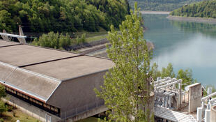France's hydroelectric power site of Grand'Maison, at Allemont, in the French region of Isère, on May 11, 2007.